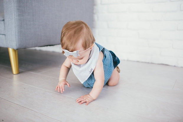 Baby Bandana Bibs - Grey Basics - Copper Pearl - 7