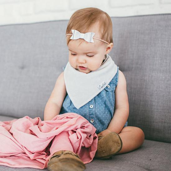 Baby Bandana Bibs - Grey Basics - Copper Pearl - 3