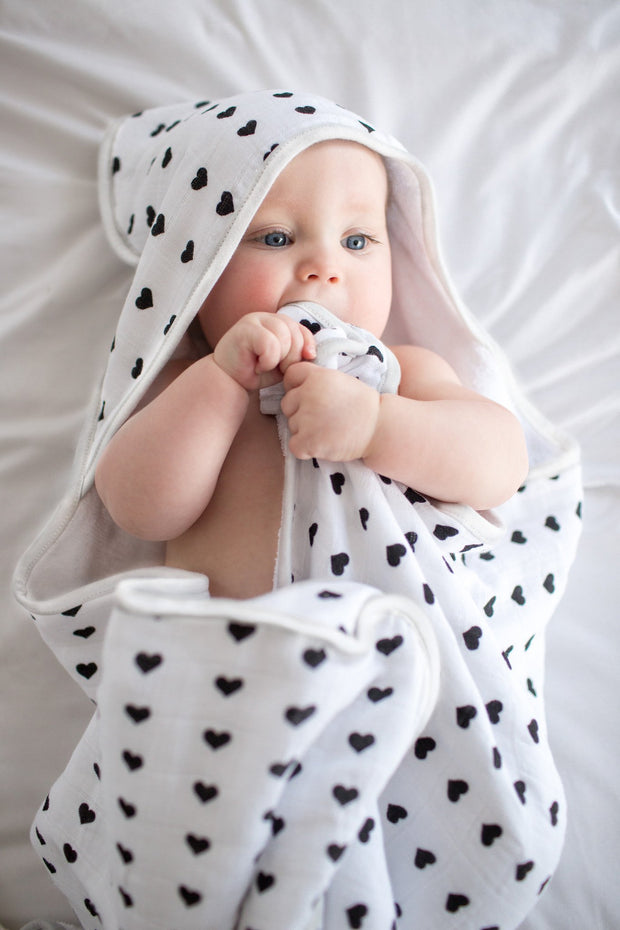 Muslin Hooded Towel - Smitten - Copper Pearl - 4