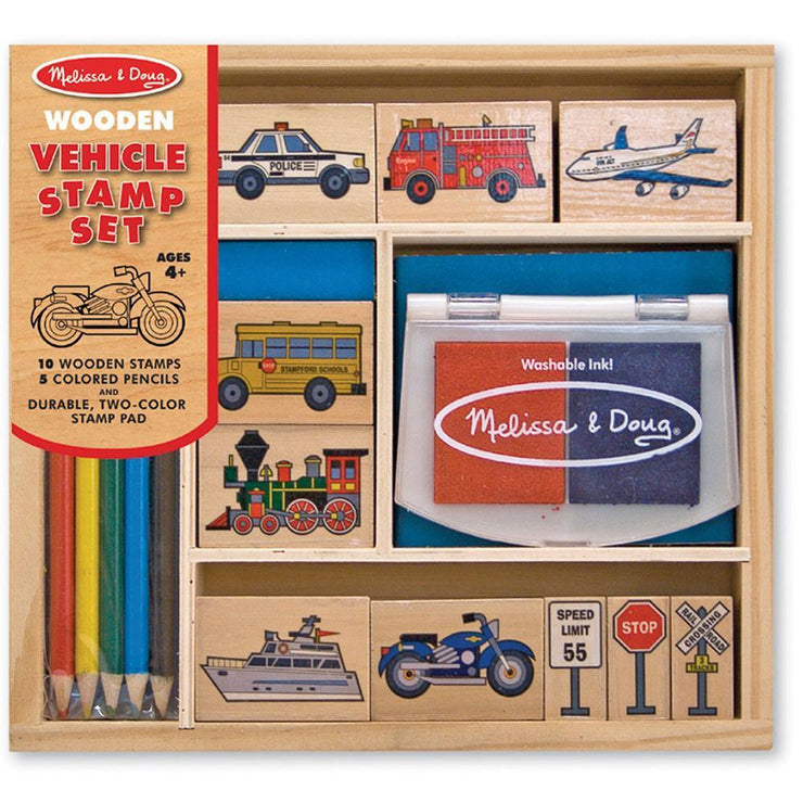 Melissa & Doug Stamp Set Vehicles