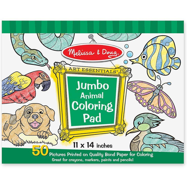 Melissa & Doug Jumbo Animal Coloring Pad
