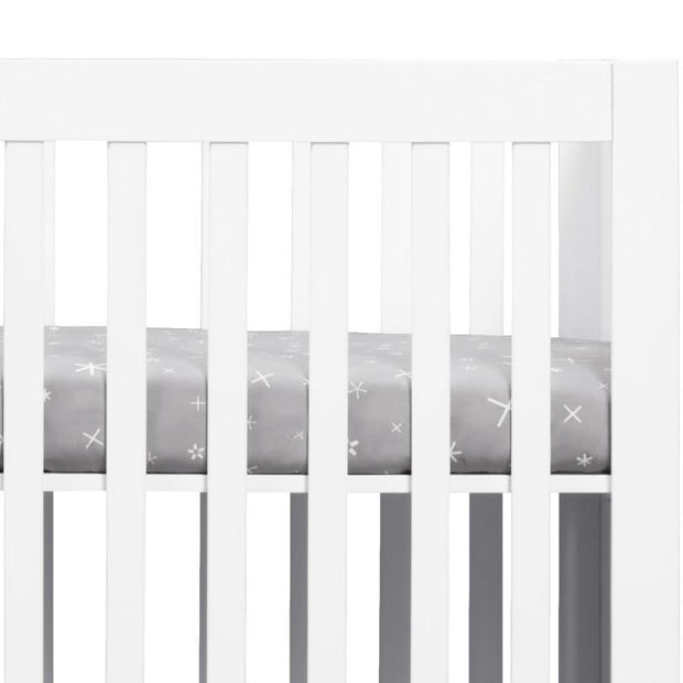Babyletto Galaxy Galactic Grey Stars Fitted Mini Crib Sheet