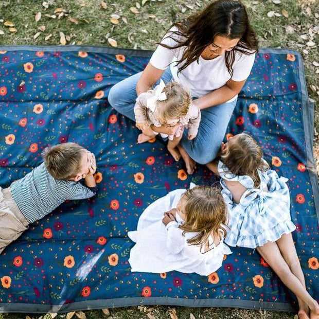 Little Unicorn 5 x 7 Outdoor Blanket  - Midnight Poppy