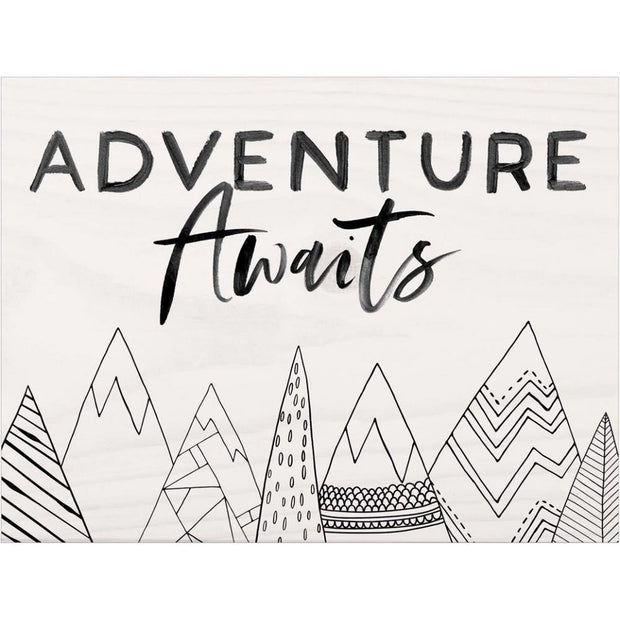 Adventure Awaits Plaque