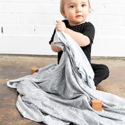 Copper Pearl Knit Swaddle Blanket | Asher
