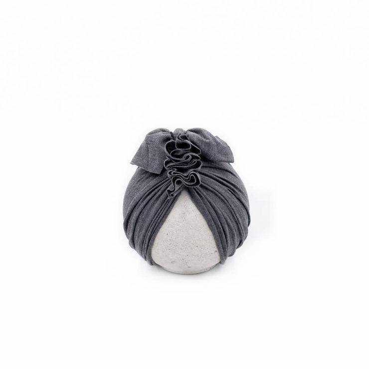 Vintage Head Wrap Hat - Charcoal