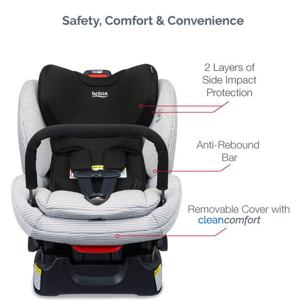 Britax Boulevard Click-Tight Clean Comfort Convertible Car Seat with Anti-Rebound Bar