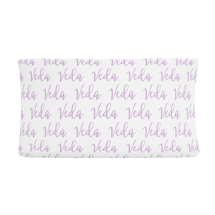Sugar + Maple Changing Pad Cover - Repeating Name
