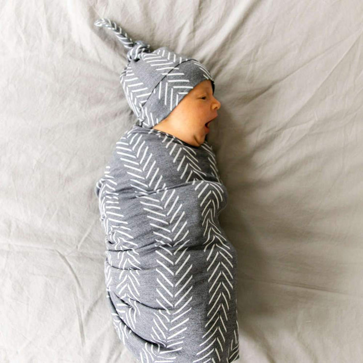 Copper Pearl Knit Swaddle Blanket - Canyon