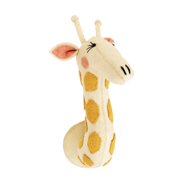 Fiona Walker Original Felt Animal Head Girl Giraffe