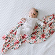 Copper Pearl Knit Swaddle Blanket - Joy