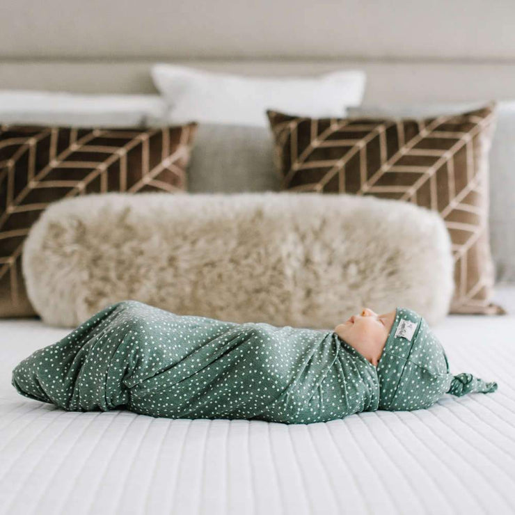Copper Pearl Knit Swaddle Blanket - Juniper