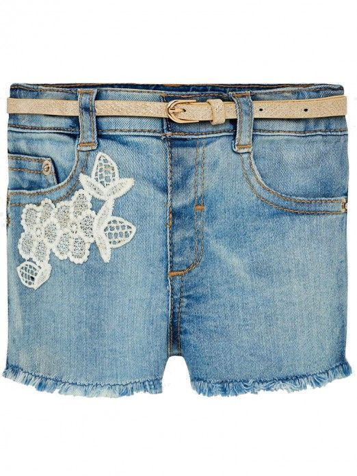 Mayoral hearts and Lace Denim Shorts