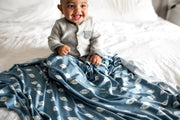 Copper Pearl Knit Swaddle Blanket | Quarterback
