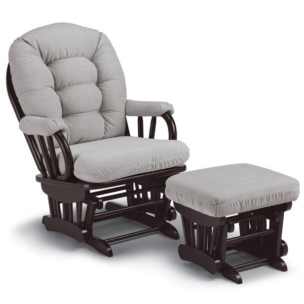 Best Chairs Sona Glider + Ottoman Combo