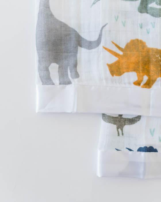 Little Unicorn Cotton Muslin Security Blankets - Dino Friends