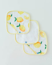 Little Unicorn Washcloth Set - Lemon