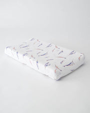 Little Unicorn Cotton Changing Pad Cover - Narwhal