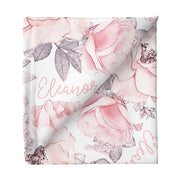 Sugar + Maple Large Stretchy Blanket - Wallpaper Floral
