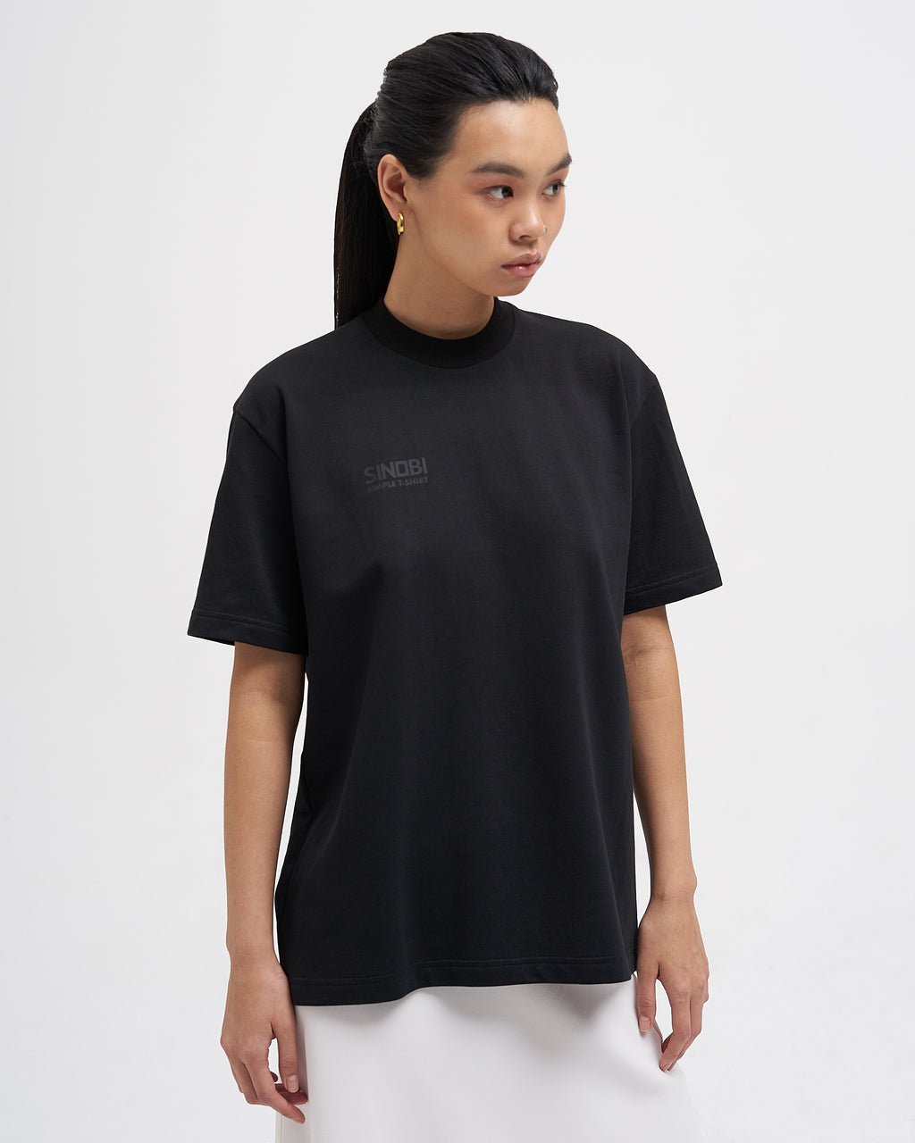 BLACK SIMPLE T-SHIRT - SINOBI