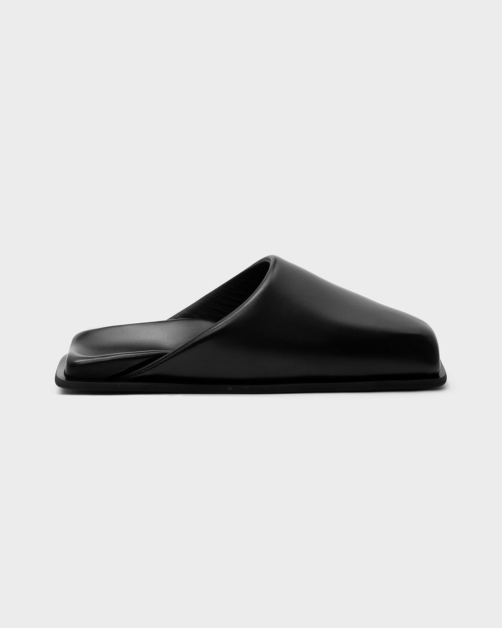 MULES SINGLE SOLE BLACK - SINOBI