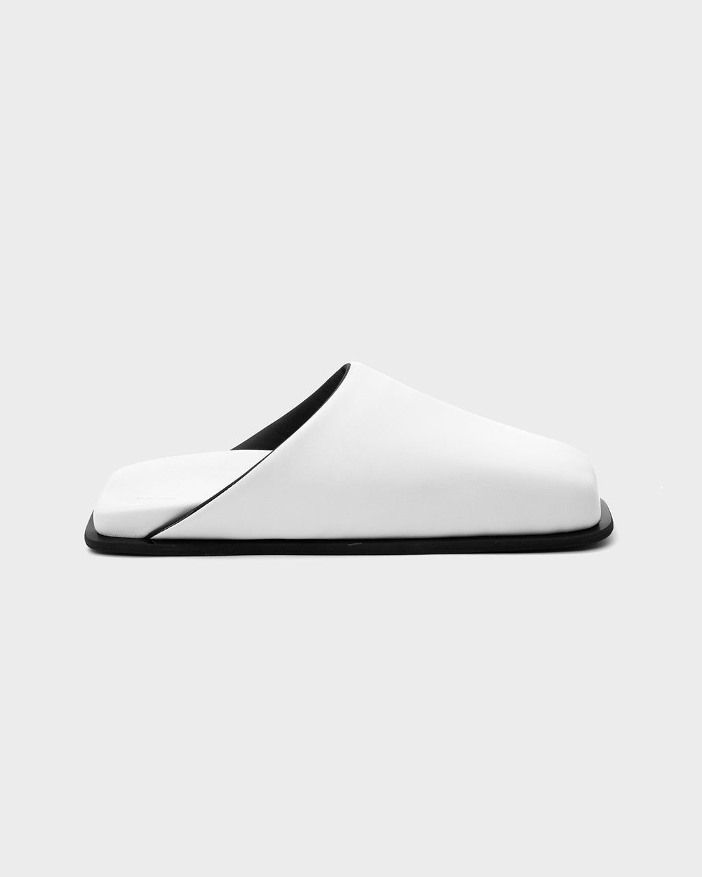 MULES SINGLE SOLE WHITE - SINOBI