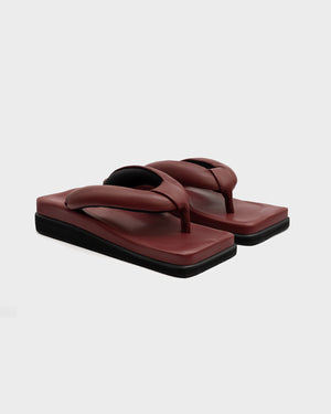 CLASSIC SINGLE SOLE BORDEAUX - SINOBI