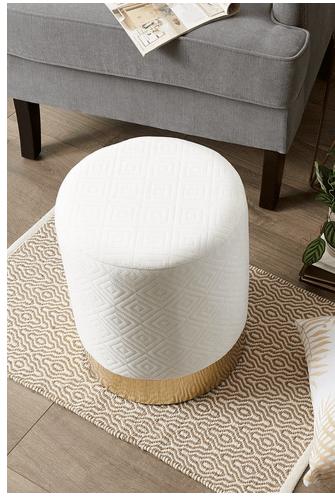 LovelyDecor™ Round Velvet Living Room Stool