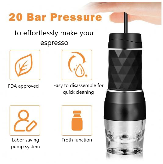 Features of portable espresso maker