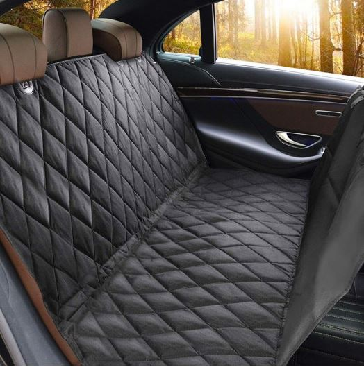 Backseat cover shown inside vehicle