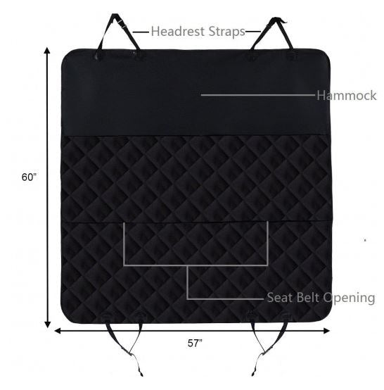 Dimensions of backseat cover for pets