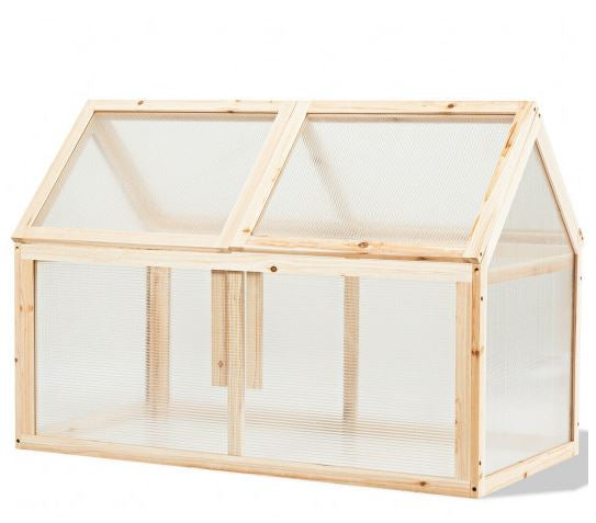 Empty greenhouse sits inside fully closed