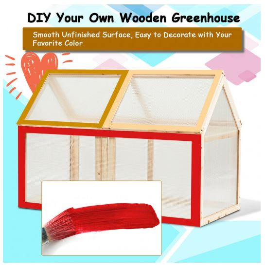 Greenhouse is shown able to be painted or stained to your desire