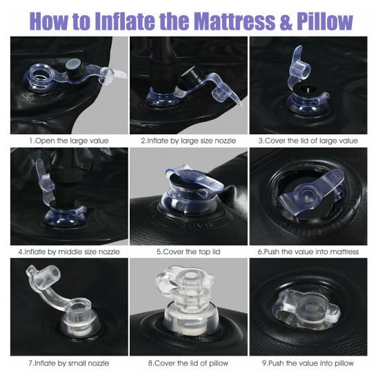 Inflatable Air Mattress Nozzle Mechanism