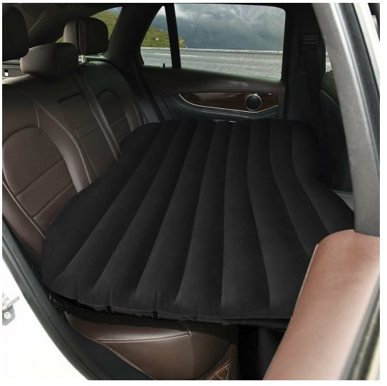 Air mattress shown in the backseat of car