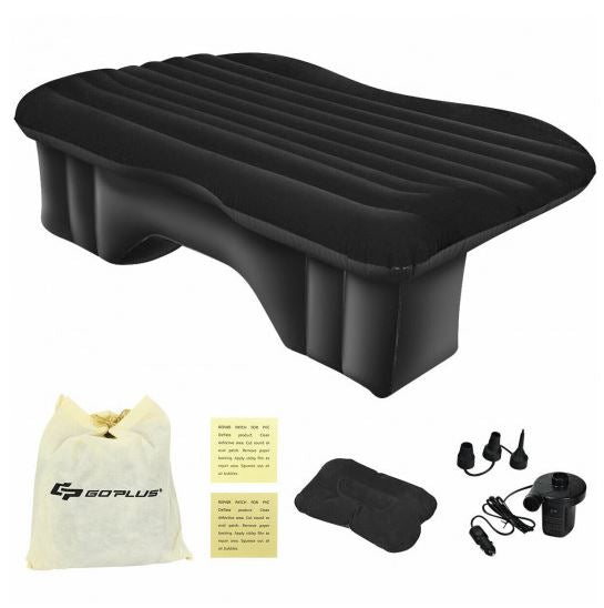 Inflatable Backseat Mattress Showing Pump