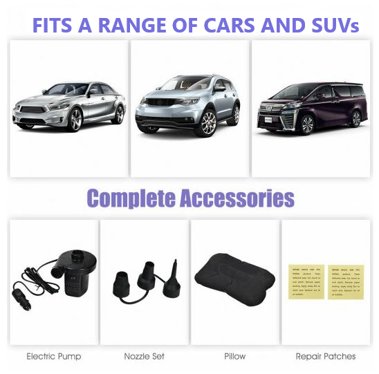 Inflatable Car Air Mattress Accessories and cars that are able to fit it