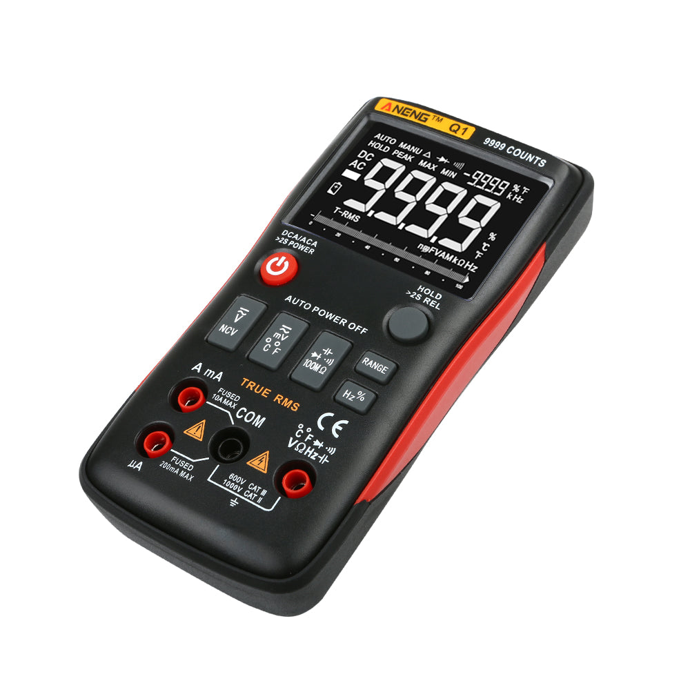 True RMS Digital Multimeter AC DC Voltage Current Resistance Capacitance Tester
