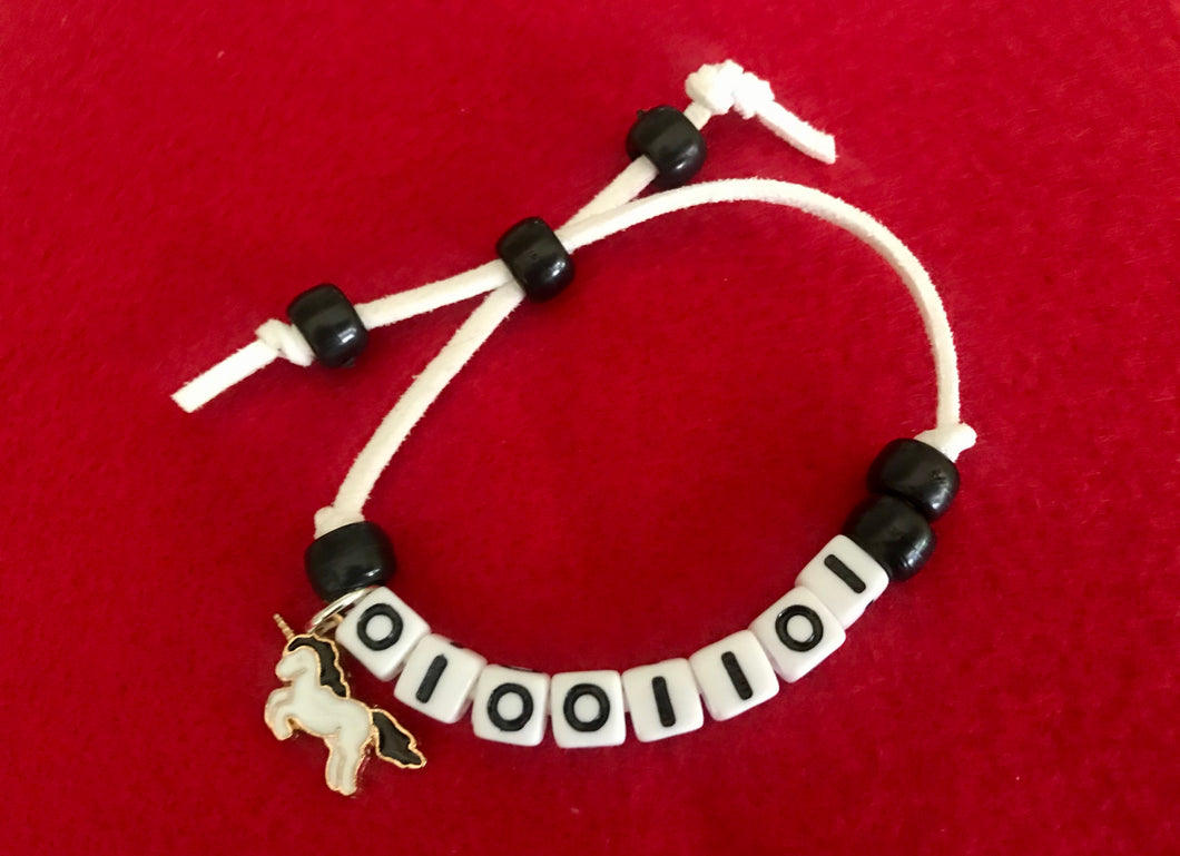 Binary Bracelet Coder Kit - Makes 5 Binary Bracelets