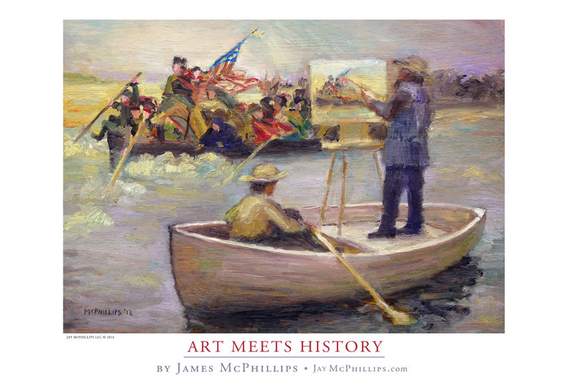 "Signed Washington Crossing ""Art Meets History"" poster by James McPhillips"