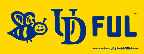 Bee-UD-Ful Sticker Bumper Sticker