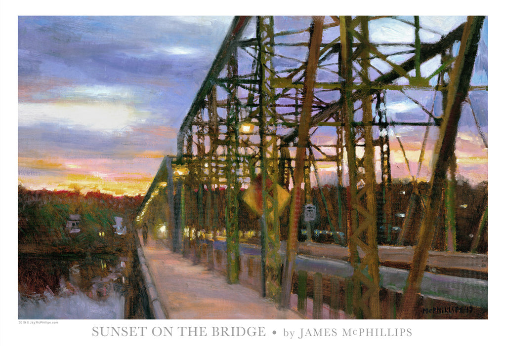 Sunset on the Bridge Poster by James McPhillips