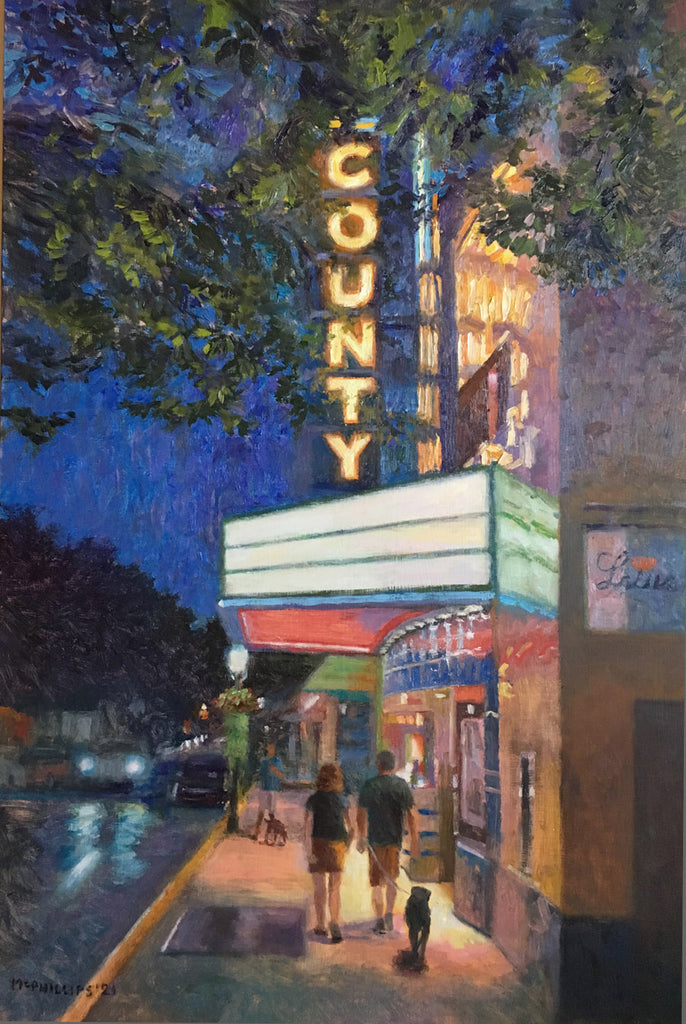 County Theater Oil Painting by James McPhillips