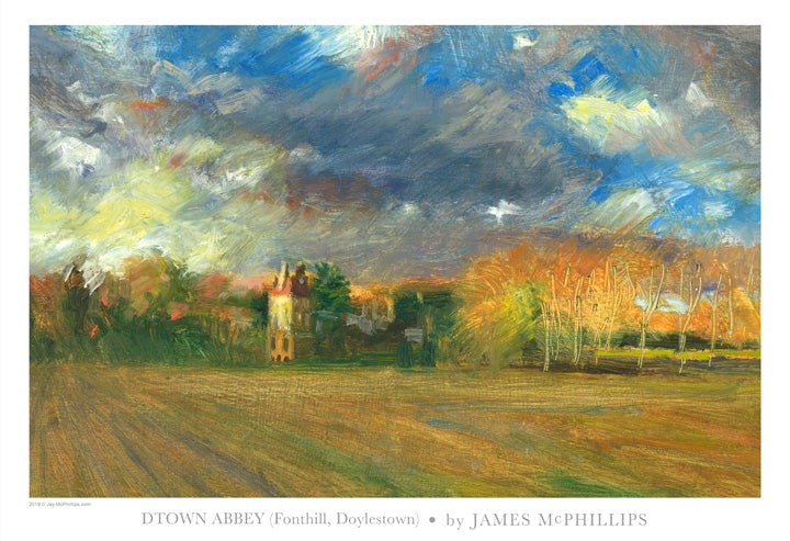 Dtown Abbey (Fonthill) Art Poster by James McPhillips