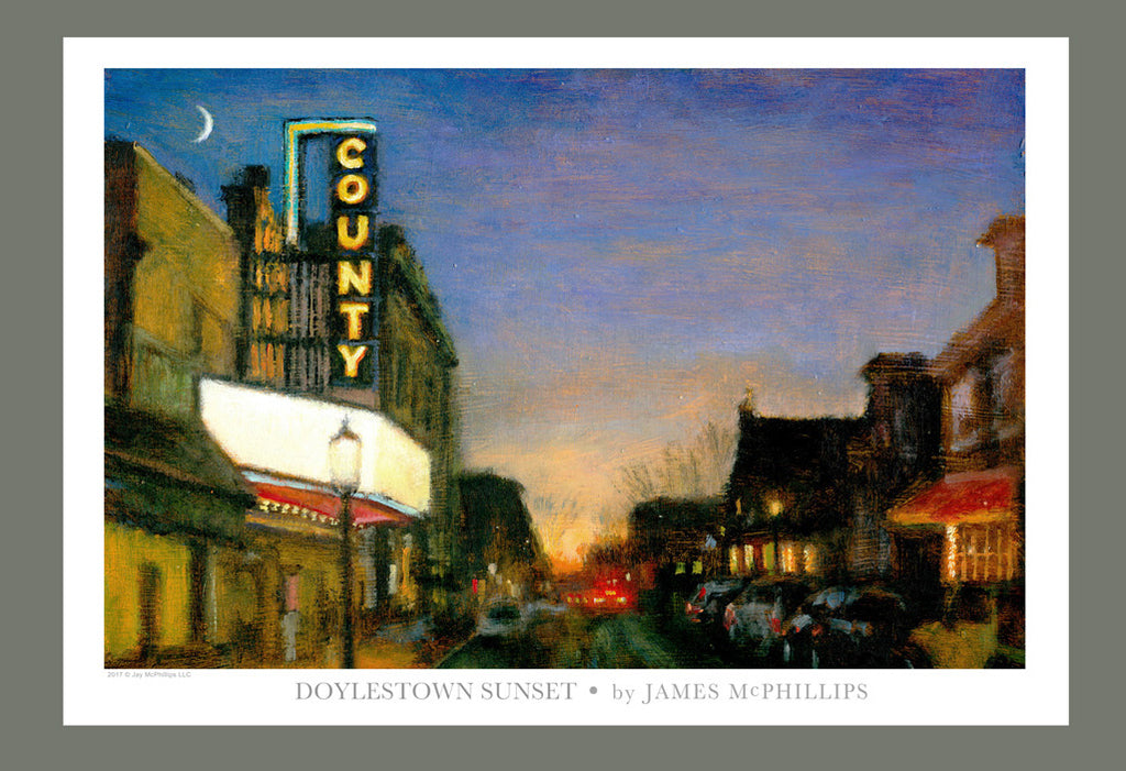 "Signed ""Doylestown Sunset"" Art Poster by James McPhillips"