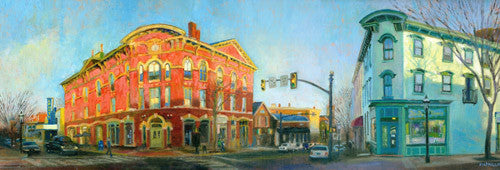 "Doylestown Panorama Print 7""x 20"""
