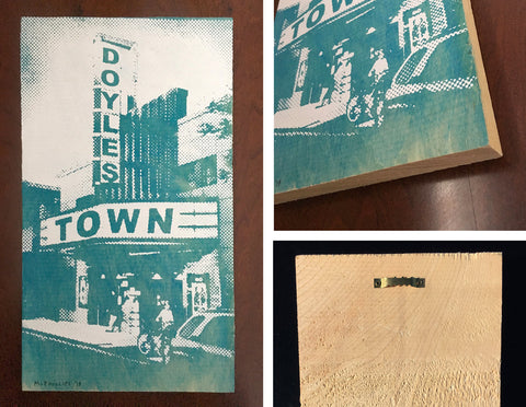 Doylestown Screen Print Painting on Wood