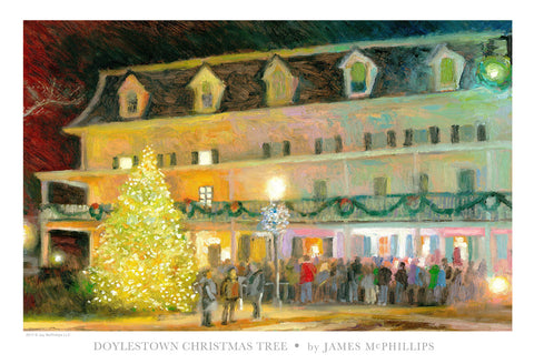 Doylestown's Christmas Tree Poster by James McPhillips