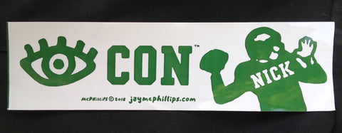 Eye-Con-Nick Bumper Sticker