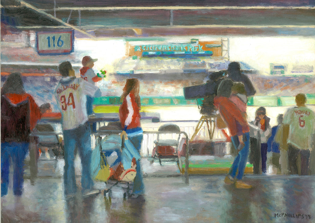 "Phillies (""First Game"") painting by James McPhillips"